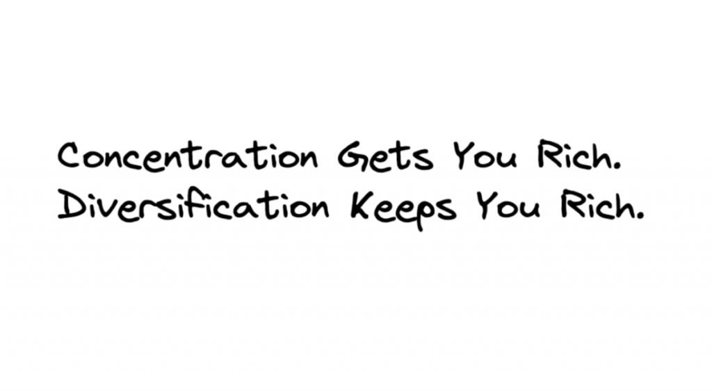 concentration gets you rich diversification keeps you rich