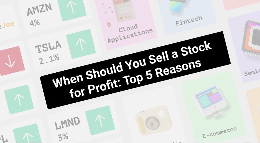 when should you sell a stock for profit