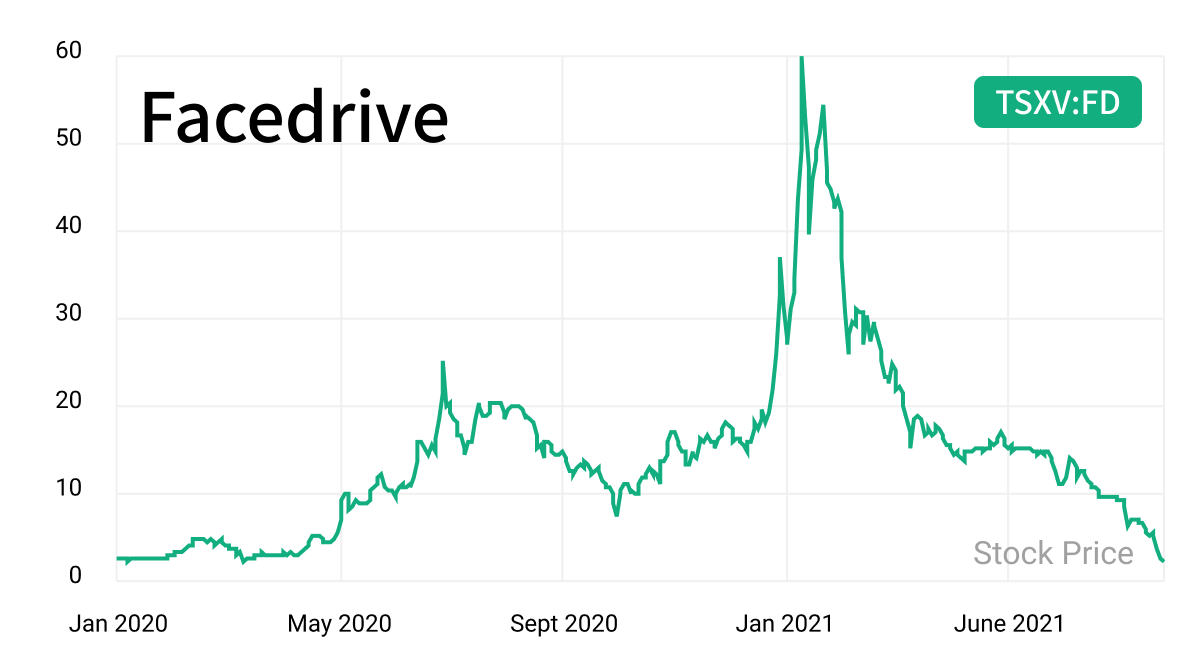 facedrive stock crashes